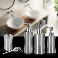 Brushed Stainless Steel Pump Soap Lotion Dispenser Liquid Bottle Kitchen Durable