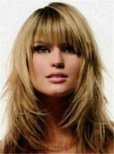 100% Human Hair New Fashion Sexy Women's Medium Dark Blonde Straight Full Wigs
