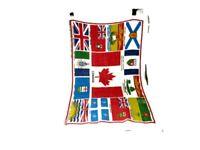 VTG Canada Collectible Souvenir Linen Dish Towel Province Names Quebec Toronto