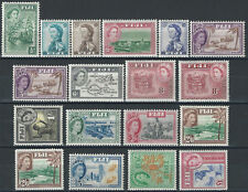 1954-59 Fiji  18v. MNH SG n. 280/95+a £ 126,00