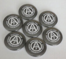 1x Support Animal Liberation Front Button Vegan Animal Rights sXe Punk HC ALF