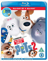 THE SECRET LIFE OF PETS 2 [Blu-ray 3D + 2D] 2019 Exclusive UK 3D Animated Movie