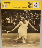"Suzanne Lenglen 1978 Womens Pro Tennis Sportscaster 6.25"" Card 17-01 The Goddess"