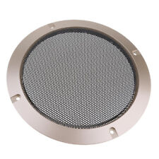 6.5inch Car Home Speaker Cover Decorative Circle Metal Mesh Grille Gold