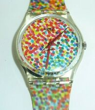 Swatch Watch VINTAGE 1991 Lots of Dots #2 RARE in box!