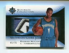 2005-06 UD Ultimate Collection Rashad McCants Game Jersey Patch /75 4 Color