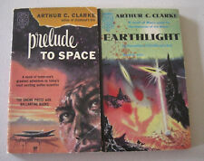 Arthur C. Clark, Lot of 2, Vintage PB, Prelude to Space; Earthlight,
