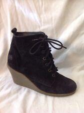 Jasper Conran Black Ankle Suede Boots Size 6