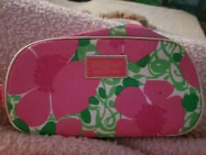 Lilly Pulitzer For Estee Lauder pink Floral Cosmetic Bag/New