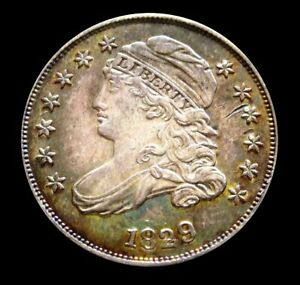 1829 SILVER UNITED STATES CAPPED BUST DIME CHOICE AU