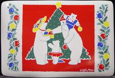 Cathy Heck Set Of 6 Polar Bear Family Vinyl Retangular Placemats New With Tags