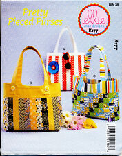 KWIK SEW SEWING PATTERN 177 LINED BAGS/TOTES WITH POCKETS - MIX & MATCH FABRIC