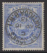 ANTIGUA SG46a 1908 2½d BLUE USED