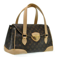 LOUIS VUITTON Monogram Beverly GM Hand Bag M40120 LV Auth pg174