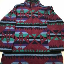 Vintage Navajo Aztec Style Sweater 90s Outdoors Hiking