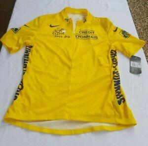 Le Tour De France 2005 Credit Lyonnais Nike Mesh Panels Cycling Jersey size XXL