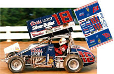 CD_DSC_076 #18 Brad Doty Coor's Silver Bullet sprint car  1:24 Scale Decals NEW