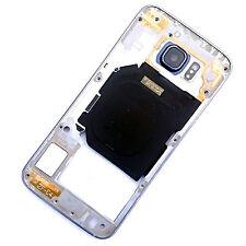 100% ORIGINALE Samsung Galaxy S6 Blu Lato Posteriore Alloggiamento + fotocamera vetro telaio g920f