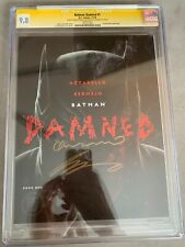 BATMAN DAMNED 1 CGC 9.8 White Pages 2x Signed by Lee Bermejo & Brian Azzarello