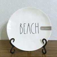 "Rae Dunn Beach Dish 8"" Melamine Salad Plate Artisan Collection Coastal Nautical"
