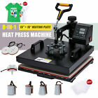 360 Swing-Away Press 8-in-1 T Shirt Heat Press Machine w 15x15in Heat Pad More