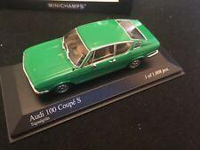 AUDI 100 COUPE S MODEL C1 VERY RARE SIGNAL GREEN MINICHAMPS 1970 LTD EDITION