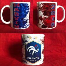 Mug ( Tasse ) personnalisé Foot Équipe de France 2 étoiles avec prenom