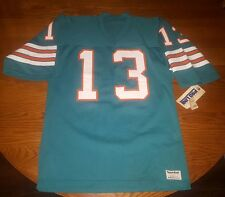VINTAGE DAN MARINO MIAMI DOLPHINS PROLINE AUTHENTIC SAND KNIT JERSEY NWT