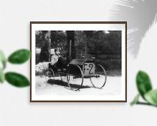 Photo: Raymond Loewy,wheel,soapbox-type racing vehicle F-2,coaster car,childhood