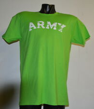 ARMY VINTAGE DESTROYED LETTERS LIME GREEN T-SHIRT- LARGE