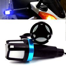 2x Blue LED Handlebar End Plug Turn Signal Light Indicator For Motorcycle Bike