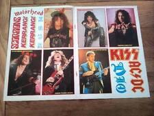 KISS DIO RUSH AC/DC MOTORHEAD SCORPIONS unused stickers from KERRANG