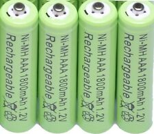 PANASONIC KX-TG RANGE TELEPHONE 4x 1.2V 1800mAh AAA RECHARGEABLE BATTERIES GREEN