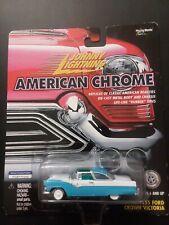 Johnny Lightning American Chrome 55 Ford Crown Victoria White Lightning Blue