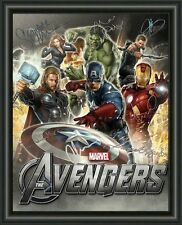 AVENGERS CAST MOVIE POSTER 3  - A4 SIGNED AUTOGRAPHED PHOTO FREE POST