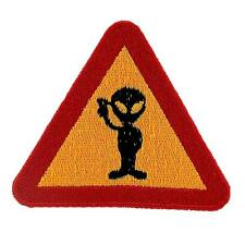 Patch patches backpack alien roswell ovni ufo et head embroidered  warning