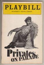 """Privates On Parade""  Playbill  1989   Jim Dale, Simon Jones, Donna Murphy"