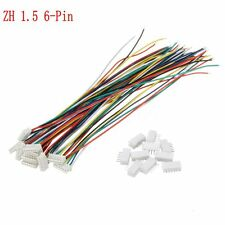 10 Sets Mini Micro JST 1.5mm ZH 6-Pin Connector Plug With Wires Cables 150mm