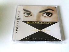 "MICHAEL JACKSON ""BLACK & WHITE"" CD SINGLE 3 TRACKS COMO NUEVO MAXI"