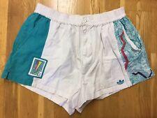 adidas Stefan Edberg Tennis Vintage Shorts 1998 Original Teal White SZ 36''