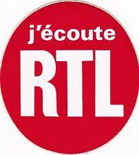 Y127 autocollant Stickers Vintage RTL j'écoute RTL non collé etat neuf