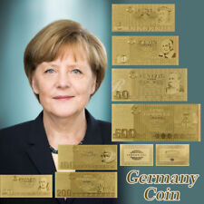 WR 1985 German 5 - 500 Marks Bank Note Set 24K Gold Foil Plated Banknote /w COA