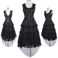 Princess Dress Steampunk Gothic Vampire Black Knee Length Short Dress Ball Gowns