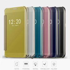 Slim Thin Luxury Mirror Flip Case Cover For iphone 8 Plus 7 6s plus case