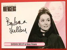 The Women Of The Avengers - BARBARA SHELLEY, Venus Browne, Autograph Card, WABS