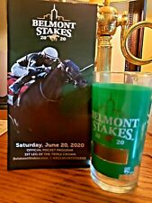 New Listing2020 Belmont Stakes 152 Pocket Program Tiz The Law + Belmont Glass Mint !