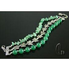 AU Seller Natural Jade & Tibet silver Bracelet 020271