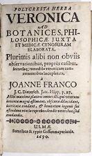 Kräuterbuch. - Francke, Johann.  Polycresta Herba Veronica ad botanices 1690
