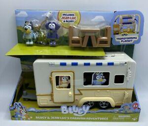 Bluey & Jean Luc's Caravan Adventures Camper Transforming Playset  Age 3+ New