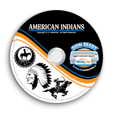 INDIANS CLIPART-VECTOR CLIP ART-VINYL CUTTER PLOTTER IMAGES &T-SHIRT GRAPHICS CD